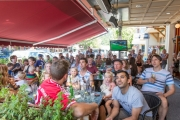 Fans flocked to the Main Street Diner patio to watch the 2014 World Cup Final between Germany and Argentina. — Submitted photo
