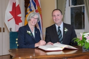 New Education Minister, Mike Bernier, was sworn in today by Honourable Judith Guichon.