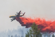 Air tankers were out in full force during the weekend to contain the Sitkum Creek wildfire. - photo courtesy Madeleine Guenette