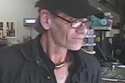 RCMP believe this man was involved in an armed robbery in Oliver. — Photo courtesy RCMP