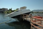 A 45-year old Penticton man may want to book a return trip to the Safe Boating course. — Photo courtesy Penticton RCMP