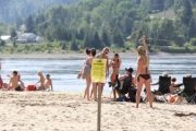 The RDCK is once again advising users of Taghum Beach of a swimming advisory due to poor water quality. — The Nelson Daily file photo