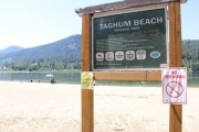 Taghum Beach is not getting used very much thanks to a swim advisory. — The Nelson Daily photo