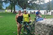 Laurilee Commandeur and club organizer Val Yowek are preparing for the annual Nelson Cyswog'n'Fun Triathlon Sunday, August 2 at Lakeside Park. — Submitted photo