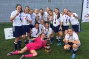 The Provincial Champion U16 Nelson Selects include, back row, L-R, Ali D'odorico, Ashley Hall, Grace Dehnel, Anna Milde, Jodi Surina, Julia Burkart, Shianne Michalchuk, Sofia Arcuri, Ruby Seright and Mattea Lorenzo. Front, Emily Taylor, Shaen Panko-Dool, Allison Bendis, Bella Guderyan and keeper Hanna Quinn. Missing, head coach Paul Burkart, assistant coach Morgan Dehnel, Technical Director Brett Adams, Trainer Shane Taylor and Manager Layla Precious. — Submitted phot