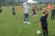 Tim Parker of the Whitecaps was in town Thursday, helping out at the Whitecaps FC Kootenay Soccer Camp at the Lakeside Fields. — Submitted photo