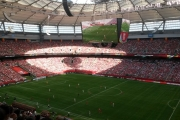 More than 54,000 fans jammed BC Place for the Women's World Cup between Canada and England Saturday. — The Nelson Daily photo