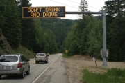 Like the sign says . . . Don't Drink And Drive.