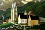 E.J. Hughes, Indian Church, North Vancouver, Watercolour on Paper, 2005. Collection of Hans Wilking