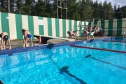 Nelson Neptune swimmers have been training at the Salmo outdoor pool. — Submited photo