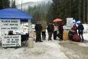 Locals who protested logging above Summit Lake Provincial Park in favour of protecting blue-listed toads won a reprieve until the winter. — Photo courtesy Wayne McCrory