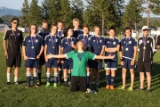 The Nelson Selects were all smiles after capturing the Kootenay Zone U15 Boy's Provincial B Playoff. — Submitted photo
