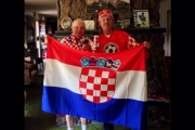 Guido and Boris Faraguna were all decked out in Croatian colours Thursday to cheer on their favourite team on opening day of the World Cup in Brazil. — Photo courtesy Facebook