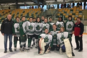 The Nelson Bantam Leafs include, back row from left, Head Coach Dave Zarikoff, Cale O'Meara, Max Spielman, Keanu Tromans, Nick Haydu, Mike Zarikoff, Ethan Grill, Blair Sookro, Alex Laing, Ava Young,Noah Marsh and Assistant Coach Jim O'Meara. Front, Josh Marsden, Noah Whiffen and Kylan Palm. — Submitted photo