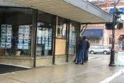 There were a few windows smashed in the downtown core this past week in Nelson. — Submitted photo