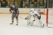 Adam Maida faced 30 shots as Nelson opened the KIJHL season with a 3-3 overtime tie against Beaver Valley. — The Nelson Daily file photo