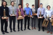 Leafs award winners, from left, include, Rayce Miller, captain Aaron Dunlap, Brenden Chow, Darnel St. Pierre, Timothy Nichols, Dylan Williamson and Robson Cramer. Missing Sam Webber. — Submitted photo