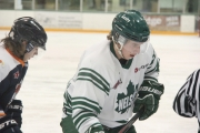Former Nelson Leafs Linden Horswill (pictured) and Carsen Willans return to the Kootenays for their first BCIHL playoff action. — The Nelson Daily file photo