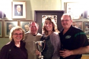 The Brent Pihowich rink won the Mixed League Saturday at the Nelson Curling Club. The rink includes, from left, lead Karen MacDonald, second Al May, third Kathy Centrone and skip, Brent Pihowich. — Submitted photo