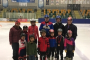 The Nelson Speed Skating Club includes, back row, L-R, Coach Jessica Ludwar, Tristan Phillips, Mercedes Phillips, Ian Walgren, Berend Platje and Coach Bruce Walgren. Front, Charlie Ludwar, Max Loubser, Dylan Boyes, Luke Platje, Oliver Ludwar and June Platje. Missing, Cameron Boyes. — Submitted photo