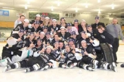 The Selkirk Saints were all smiles Saturday at the NDCC Arena after capturing the 2013 BCIHL Championship. — Bruce Fuhr photo