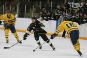 Selkirk College Saints forward Jamie Vlanich scored one of his team's five goals in a Friday night Game One victory over the Trinity Western University Spartans. — Bob Hall photo, Selkirk College Saints