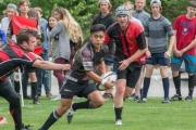 The L.V. Rogers Bombers are making some noise at the BC High School AA Boy's Tier II Rugby Championships in Abbotsford. — Photo courtesy LVR Rugby Facebook Page
