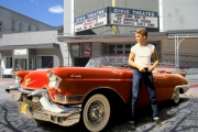 The Cadillac in My American Cousin is ready for the big screen at the final showing of a 35mm film. — Photo submitted