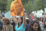 In 2009 came out in droves to protest hydro projects on Howser Creek.