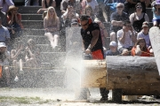 The heavyweights with the high-powered chainsaws captured center stage Sunday at the Kaslo Logger Sports Show during Kaslo May Days. — Bruce Fuhr, The Nelson Daily