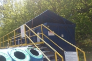 The recycling depot at Kokanee Park Marina has been attracting bears of late. — Photo courtesy Jeannine Delaney