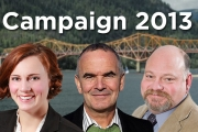 The three Nelson/Creston candidates have been busy for the past month on the campaign trail.