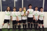 Team Romania includes, from left, Eliza Jefferson, Ollie Gyr, Tao Crawford, Tyler Walmsley, Odin Elris, Jasper Elris and Levi Taylor. — Photo courtesy Soccer Quest