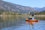 The warmer weather in April allowed this paddler a nice, relaxing day on the Kootenay River. — Submitted photo