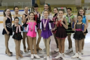 Nelson Figure skaters include, back row, L-R, Breanna Tomlin, Courtney Shrieves, Isabella Kroker Kimber, Christina Champlin, Charly DeFouw and Morgan Sabo. Front, Tia Berrrens, Lila McKechnie, Helena Keating, Courtney Donaldson and Lulu Nyiti. — Submitted photo