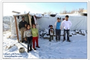 Tent shelters and snow: refugee camps in Ankara