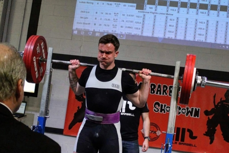 Nelson's Rowan Megale powerlifted his way to the gold medal at the BLM Barbell Showdown held recently in Abbotsford. — Submitted photo
