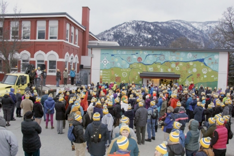 More than 350 walkers braved very cool temperatures to participate in the 2017 Coldest Night of the Year Walk. — Bruce Fuhr photos, The Nelson Daily