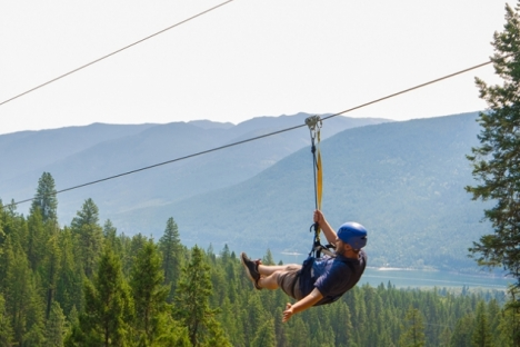 Kokanee Mountain Zipline holds its second annual Community Day fundraiser May 26. This year's proceeds are going to the West Kootenay EcoSociety, which runs the Kokanee Creek Nature Centre at Kokanee Creek Provincial Park.— Allen Rollin photo