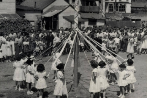 The dance around the maypole was a hit during the early days of New Denver May Days. — Photo courtesy New Denver May Days Facebook Page