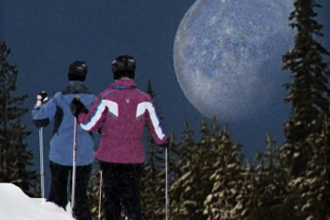 Snowshoe by Moonlight at Red for a Good Cause