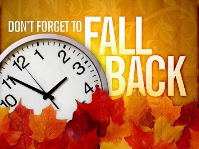 Image result for fall back clipart