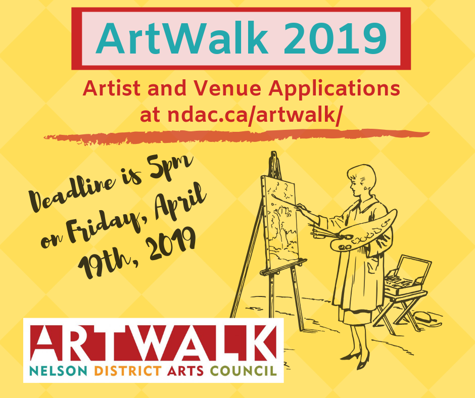 Less Two Weeks Left to Apply For ArtWalk 2019   The Nelson Daily