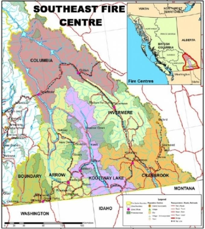 Montana Fire Map 2016.Open Fires To Be Permitted In Parts Of Southeast B C The Nelson Daily