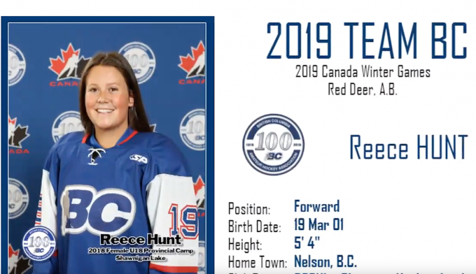 e585334b3fe Nelson s Reece Hunt selected to U18 Team BC