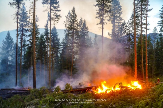 BC Wildfire reports fire near Balfour | The Nelson Daily